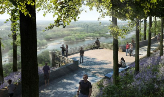 """Rendering of """"Bluff Park,"""" a part of the Chatham Park Development plan"""