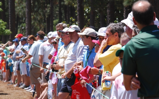 It's crowded in Pinehurst this week. Even more crowded if you're anywhere near Phil Mickelson.   Photo by Billy Liggett